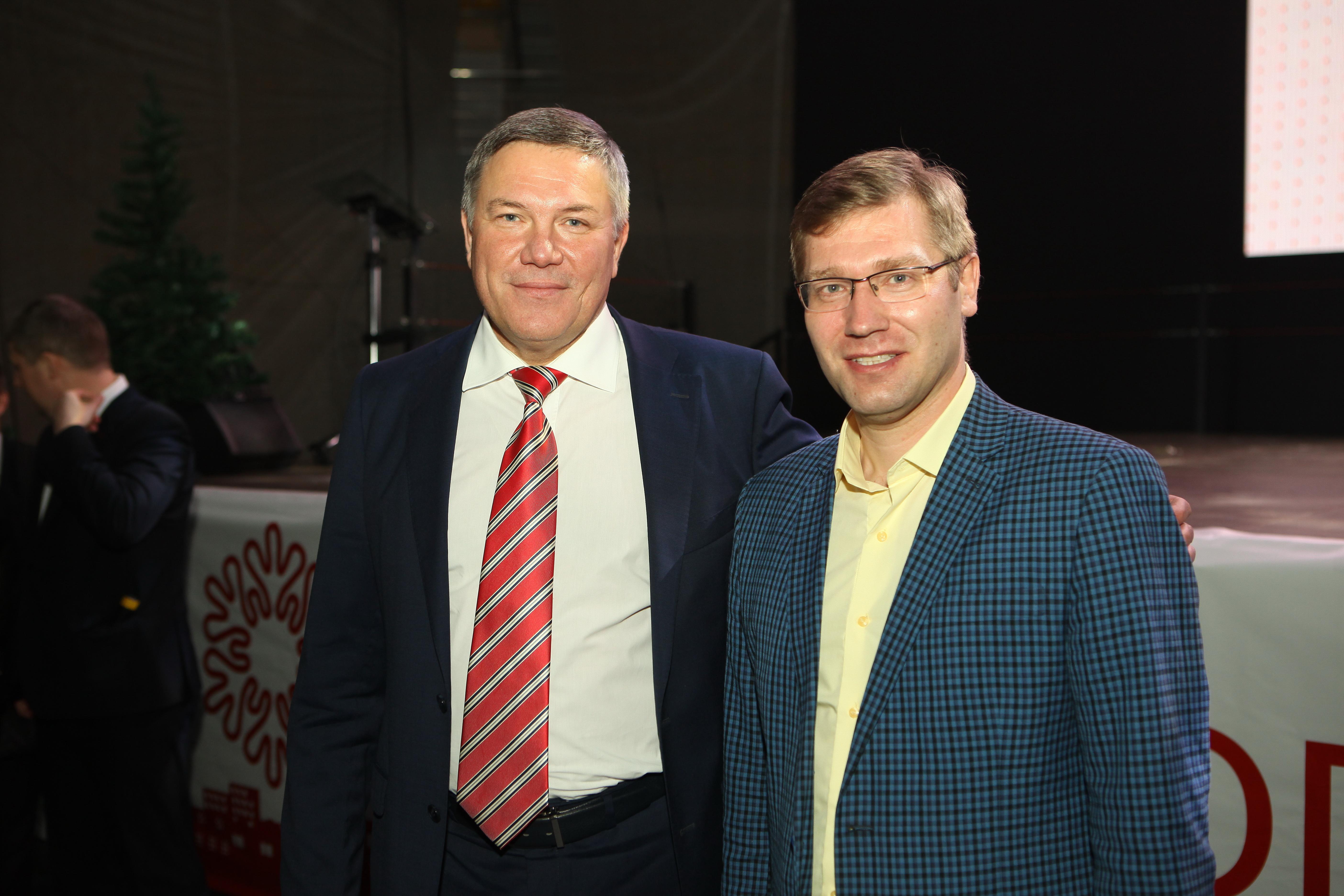 Губернатор Вологодской области Олег Кувшинников и  Владимир Шохалов
